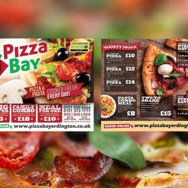 Pizza Takeaway Menu Leaflet Design