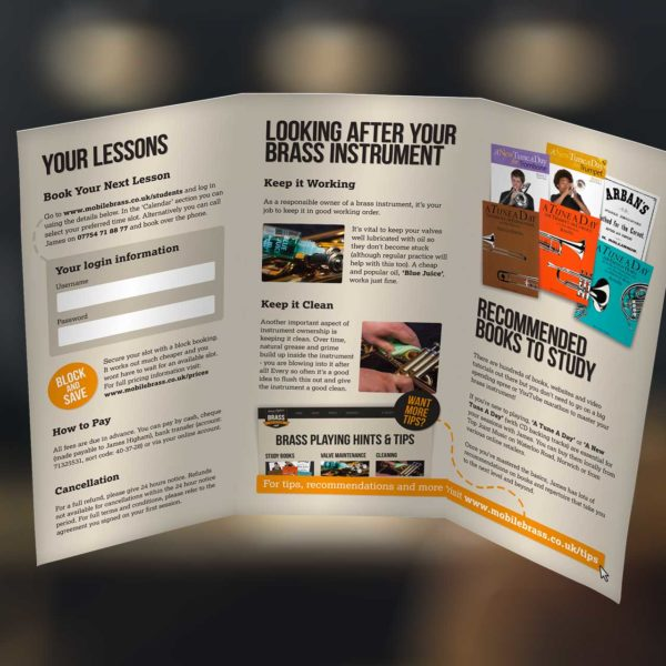 Music Lesson Tuition Leaflet Design
