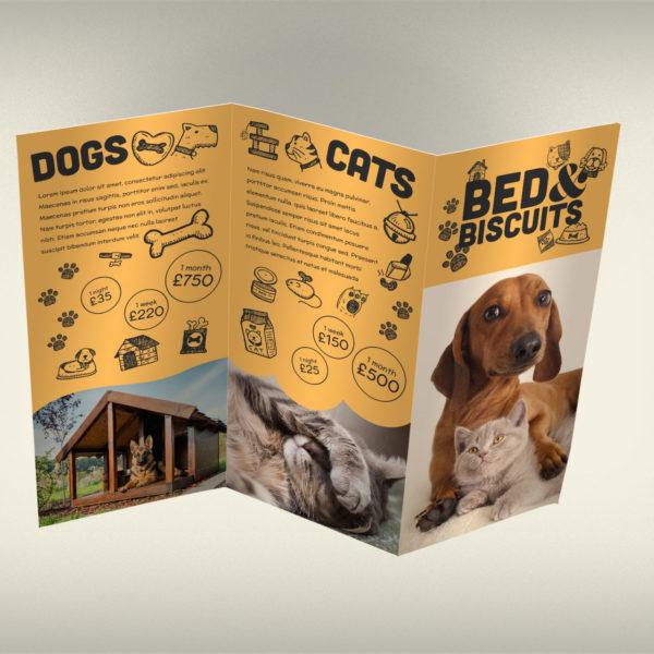 Dog Cat Pet Boarding Kennel Leaflet Design